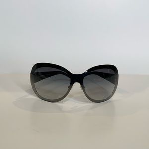 Chanel Black Gold Quilted Arms Sunglasses